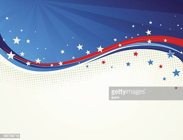 Stars and Stripes wavy background
