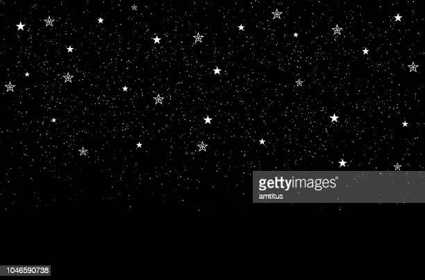 stars background - space and astronomy stock illustrations