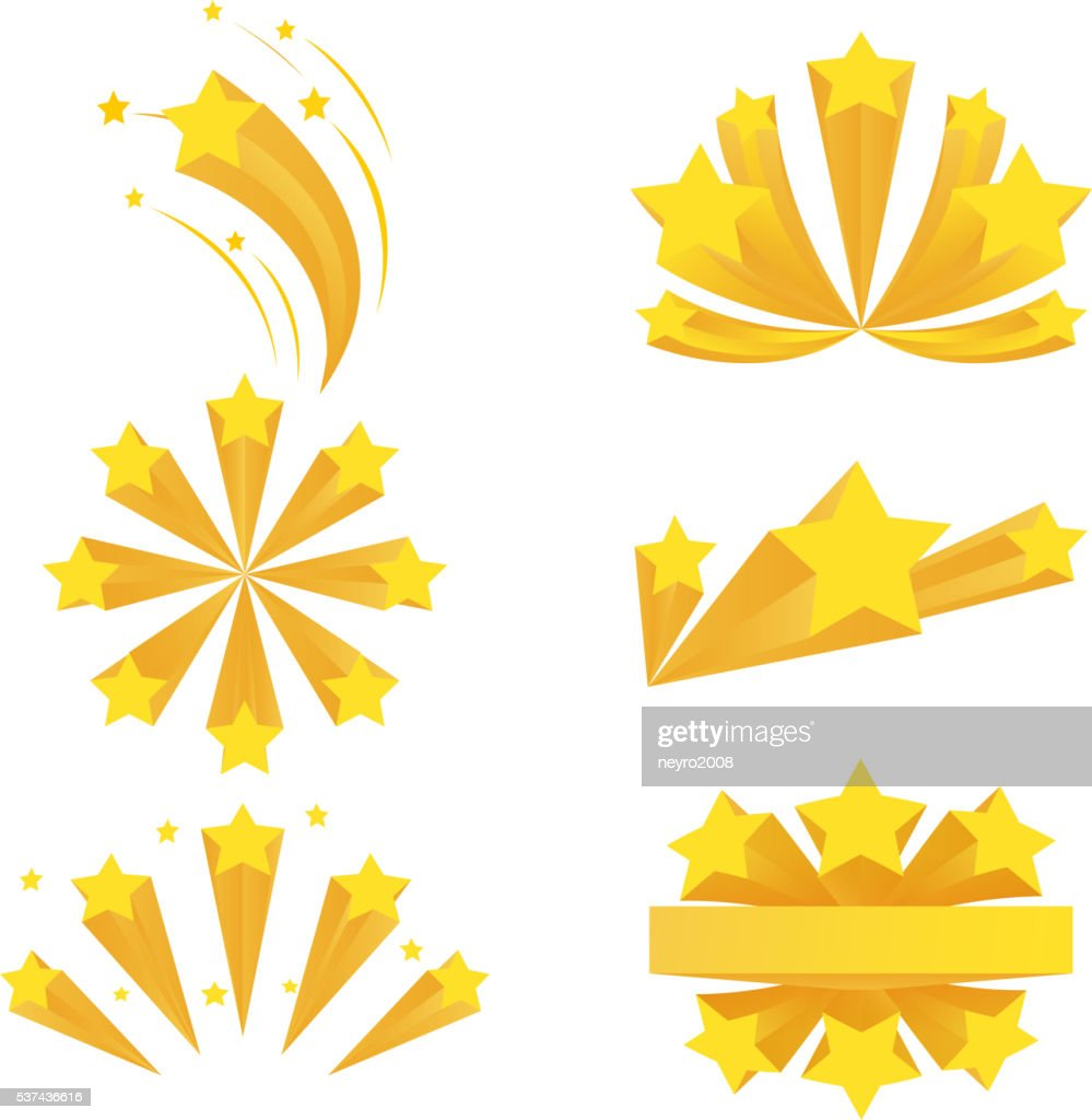 Stars burst elements. Vector on white background