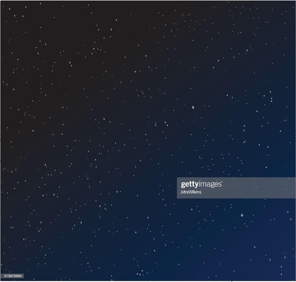 Stars in the night sky / Starry Night vector illustration