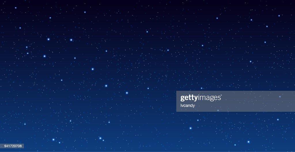 Stars in Universe : Stock Illustration