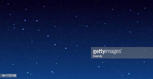 stars in universe - sky only stock illustrations