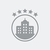5 stars luxury hotel icon