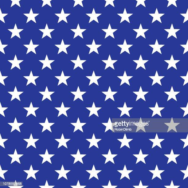 usa stars seamless pattern - star shape stock illustrations
