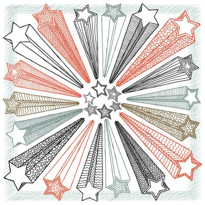 stars shape doodle - gettyimageskorea
