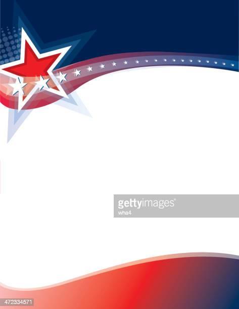 stars, stripes, copy space - politics background stock illustrations
