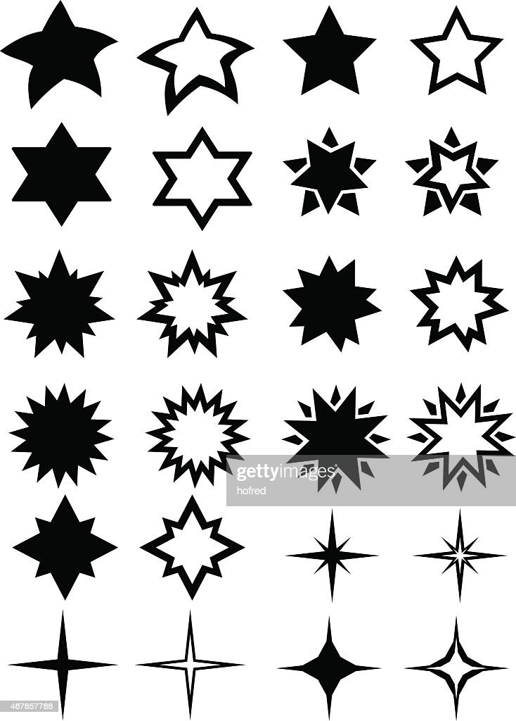 Stars Vector Icon Set