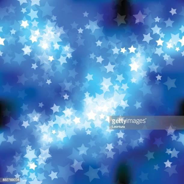 stars (seamless) - aurora borealis stock illustrations