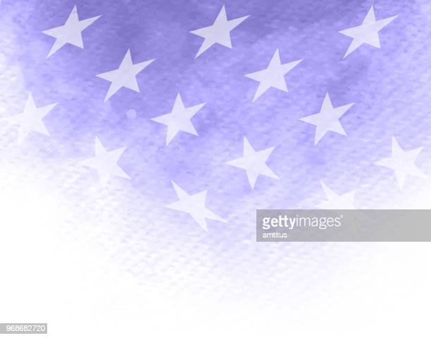 stars watercolor patriotism - us military stock illustrations, clip art, cartoons, & icons