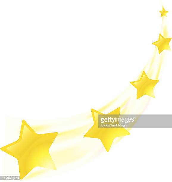 ilustraciones, imágenes clip art, dibujos animados e iconos de stock de estrellas amarillo - estrella fugaz