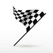 Start and finish flags.
