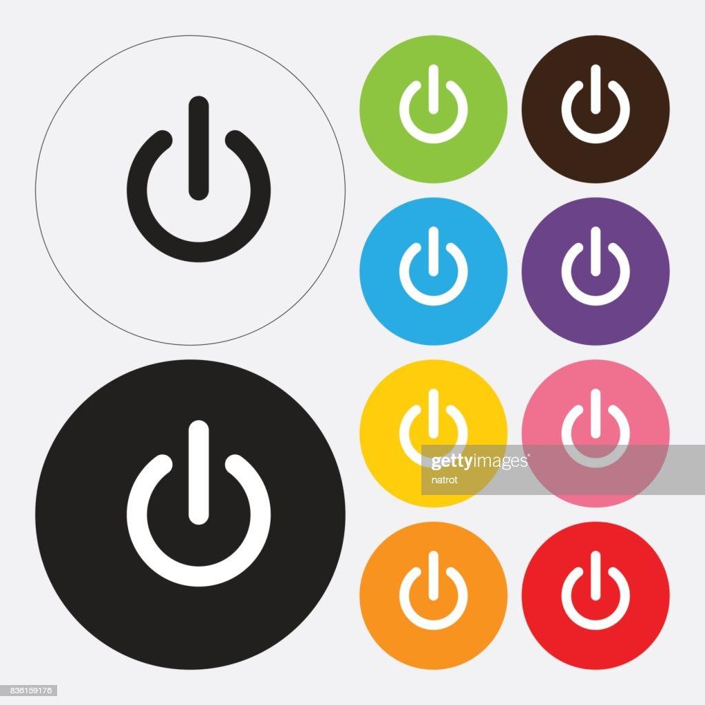 Startsymbol Einausschalter Vektorgrafik   Getty Images