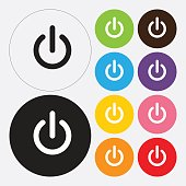 Start icon, power button