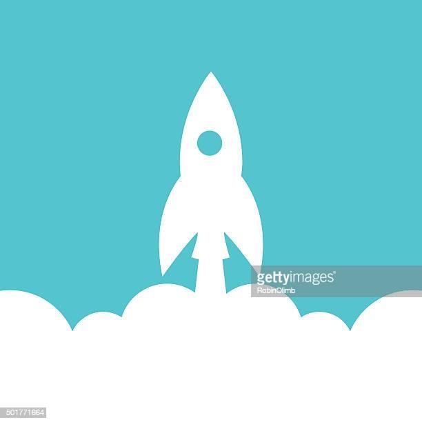 start up rocket icon - rocket stock illustrations
