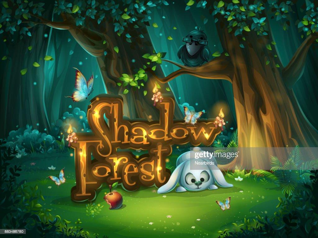 Start window Shadowy forest GUI
