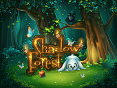 Start window Shadowy forest GUI