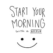 Start your morning with a smile word and face