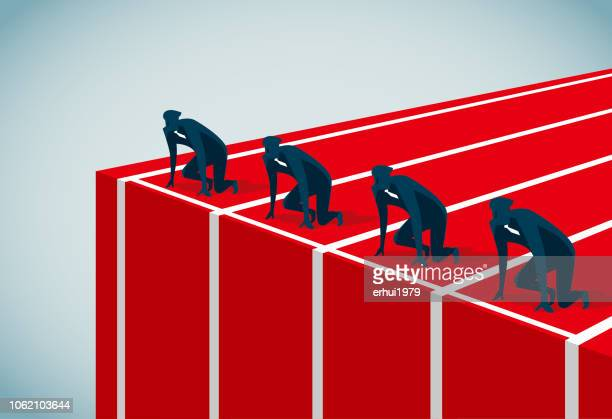 starting line - competition group stock illustrations