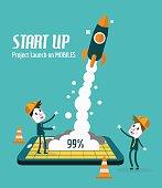 Startup and Development concept. flat design elements. vector