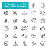 Startup Editable Stroke Icons