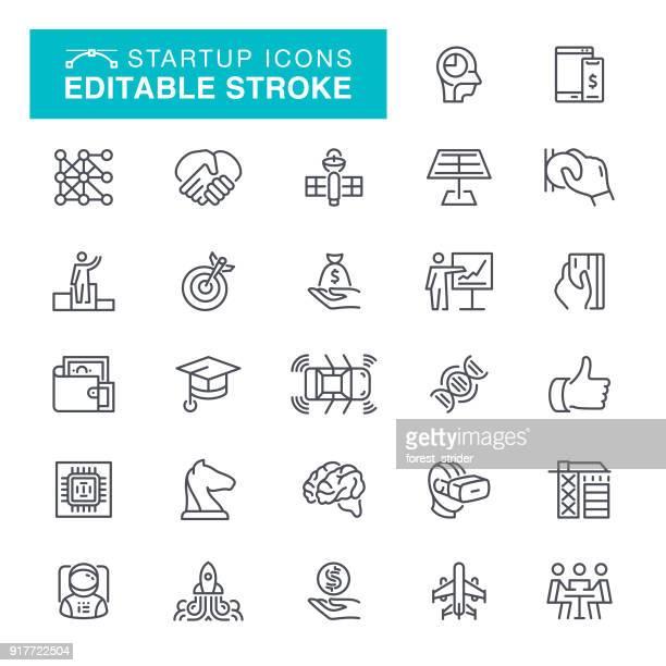 Startup Editable Stroke Icons