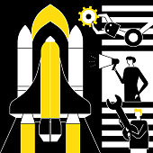 Startup - flat design style conceptual vector illustration