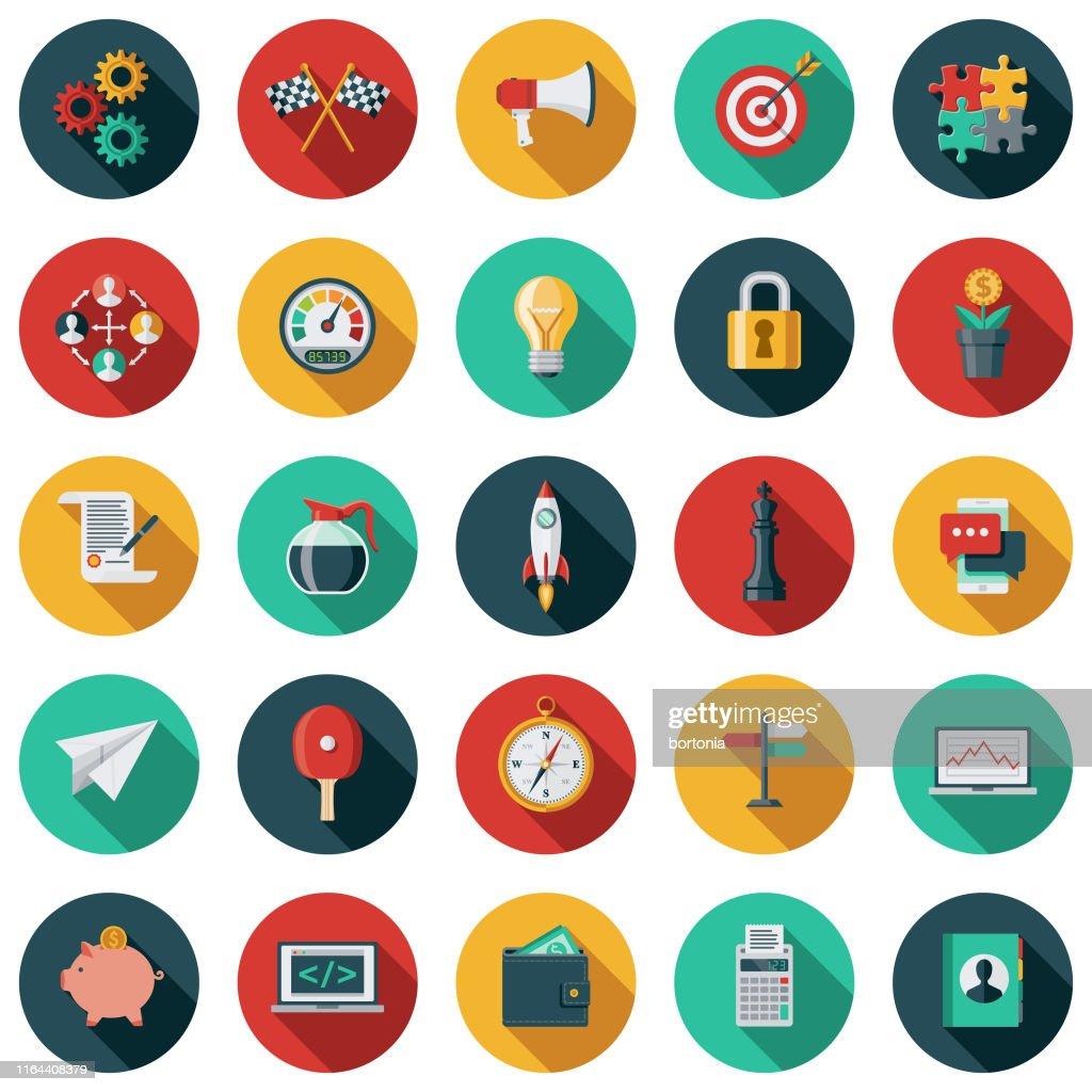 Set di icone di avvio : Illustrazione stock