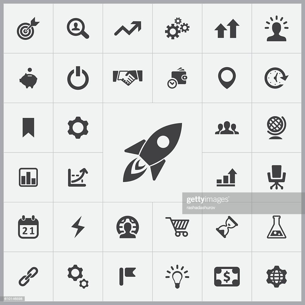startup icons universal set