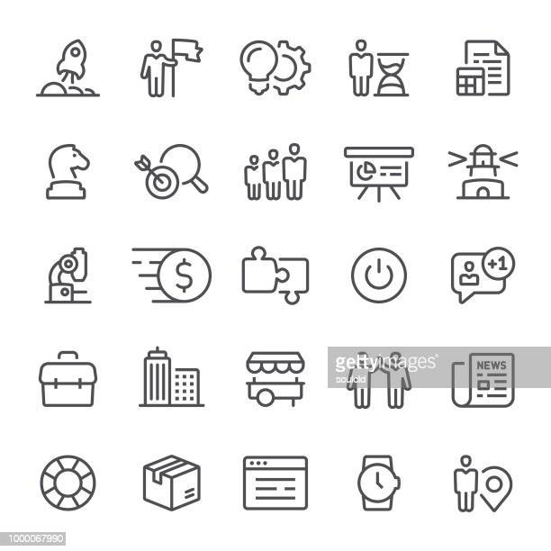 startup icons - small business stock illustrations