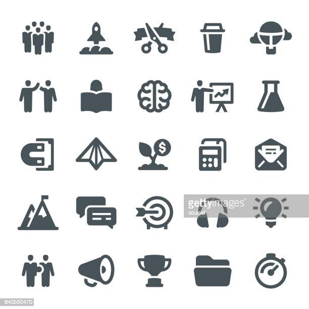 startup icons - mountain peak stock illustrations, clip art, cartoons, & icons