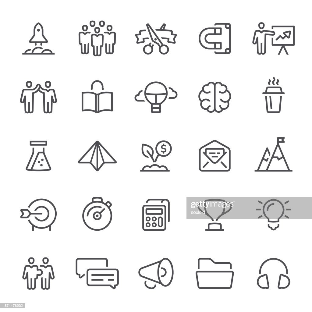 Startup Icons : stock illustration