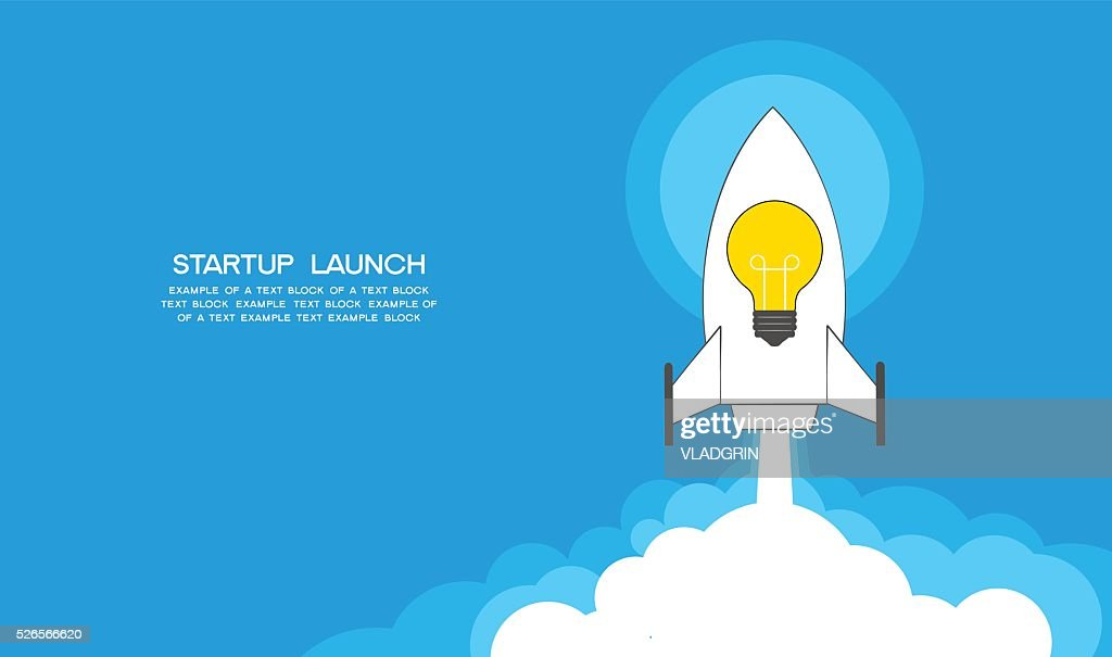 Startup launch concept