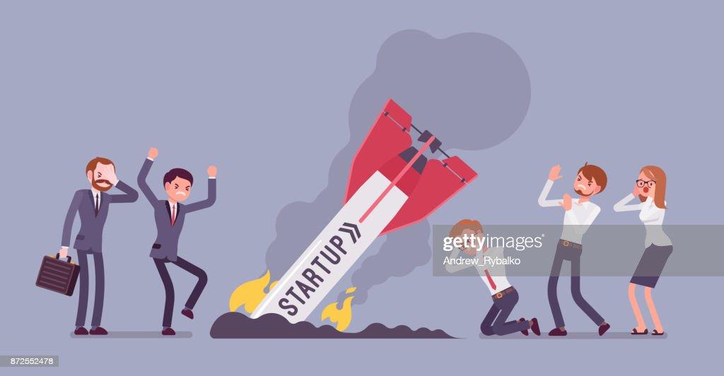 Startup rocket crash