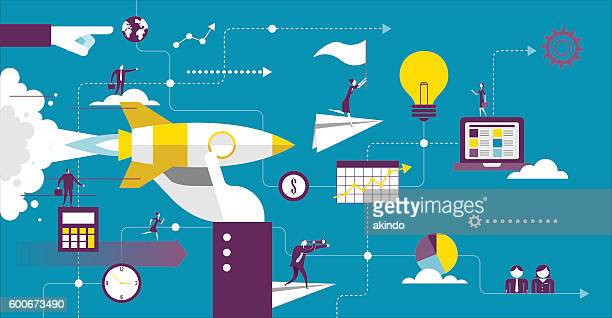 startup - concepts & topics stock illustrations, clip art, cartoons, & icons