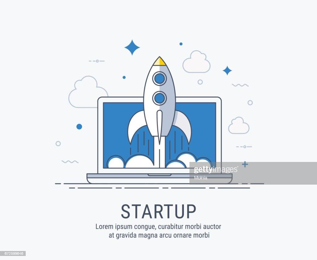Startup vector illustration for web