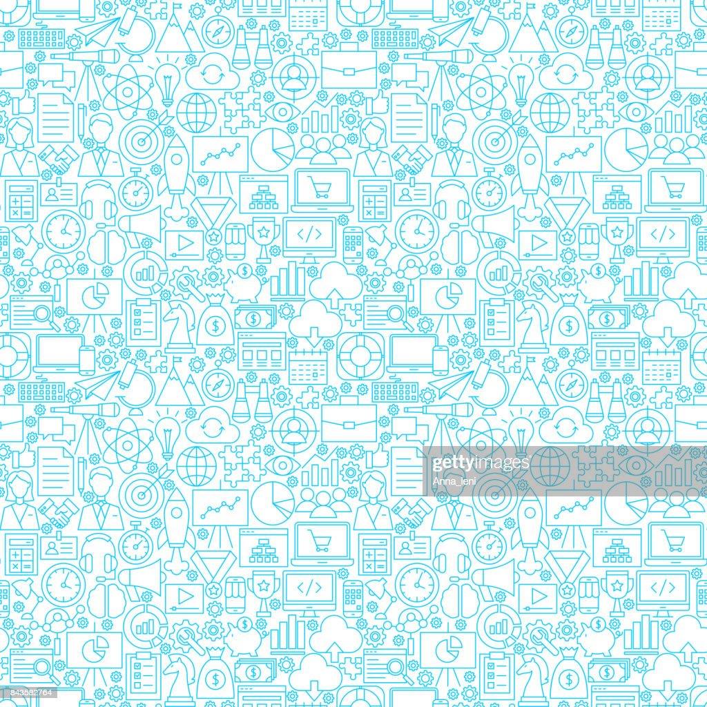 Startup White Seamless Pattern