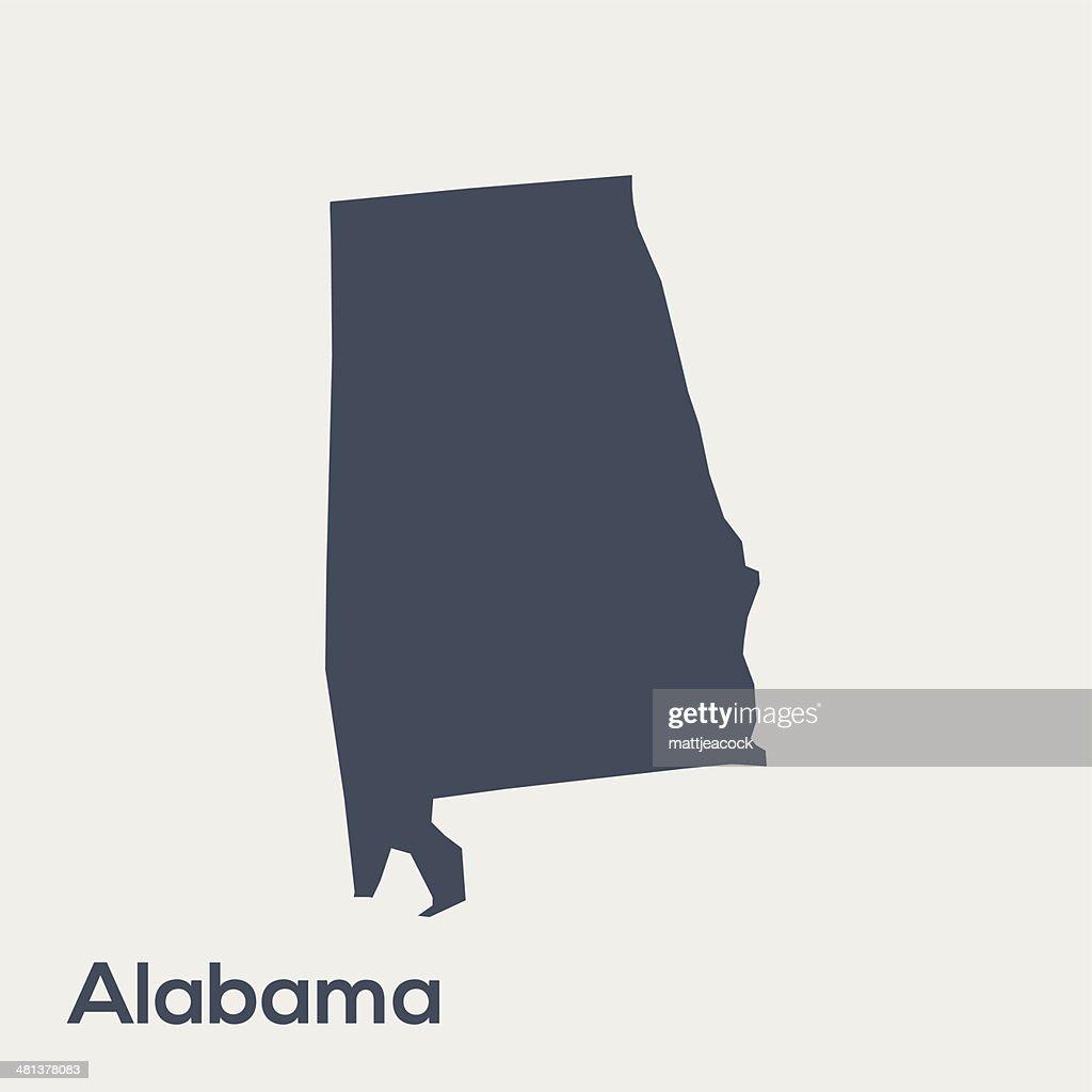 USA state Alabama : stock illustration