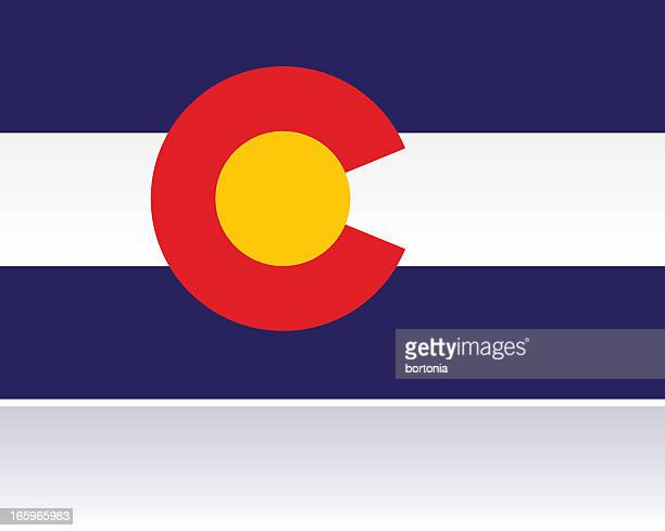 us state flag: colorado - letter c stock illustrations, clip art, cartoons, & icons