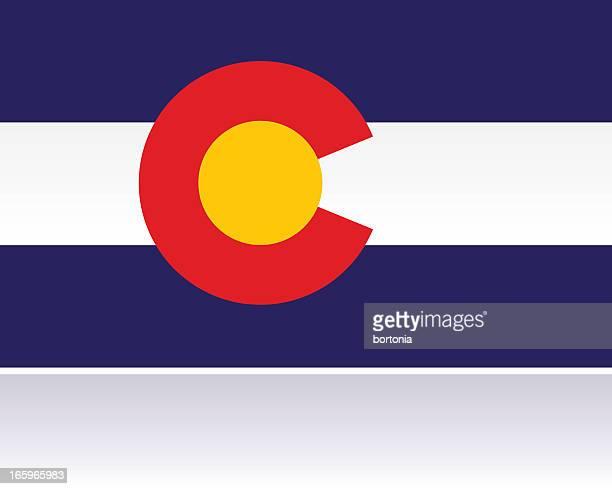 ilustrações de stock, clip art, desenhos animados e ícones de bandeira estatal americana: colorado - letrac