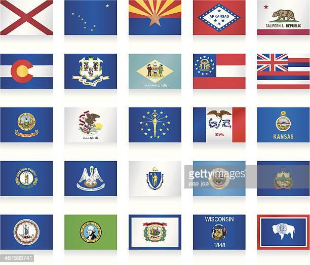 USA-Flaggen-Kollektion