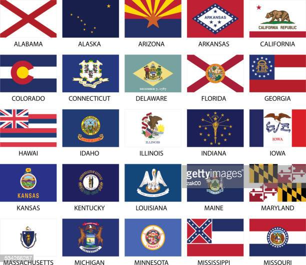 state flags - alabama stock illustrations, clip art, cartoons, & icons