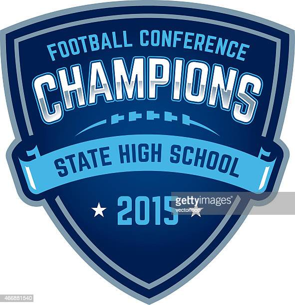 State high school football championship badge