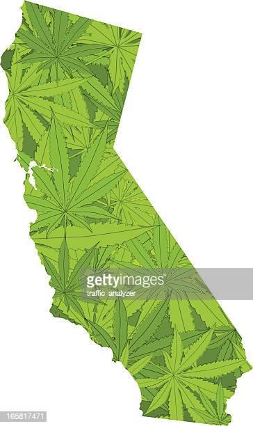 カリフォルニアでマリファナ leafs た。 - 合法化点のイラスト素材/クリップアート素材/マンガ素材/アイコン素材