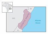 State of Espirito Santo map