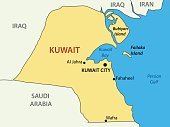 State of Kuwait - vector map