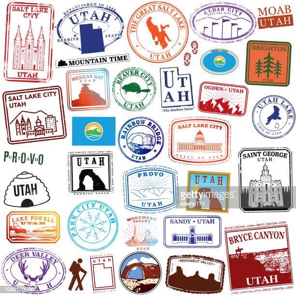 State of Utah Retro Stamps
