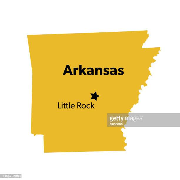 u.s state with capital city, arkansas - arkansas stock illustrations