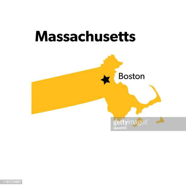 u.s state with capital city, massachusetts - massachusetts stock illustrations