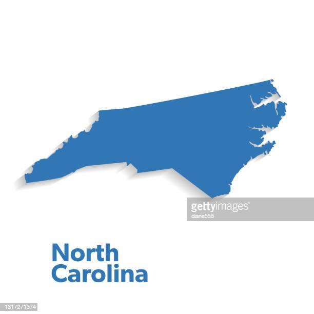 u.s state with capital city, north carolina - north carolina us state stock illustrations