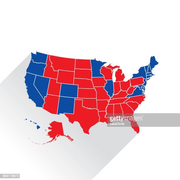 米国選挙アイコン シルエット - 選挙人団点のイラスト素材/クリップアート素材/マンガ素材/アイコン素材